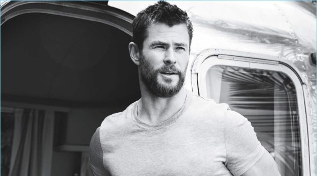 Chris Hemsworth Tight T-Shirt GQ Australia Photo Shoot