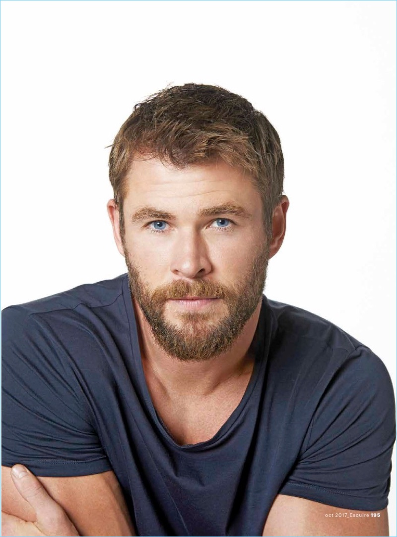 Chris Hemsworth T-Shirt Photo Shoot 2017