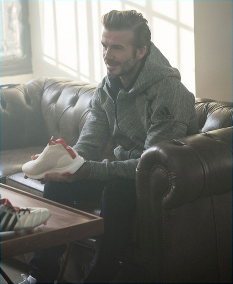 Soccer icon David Beckham works with Adidas on a new collaboration.