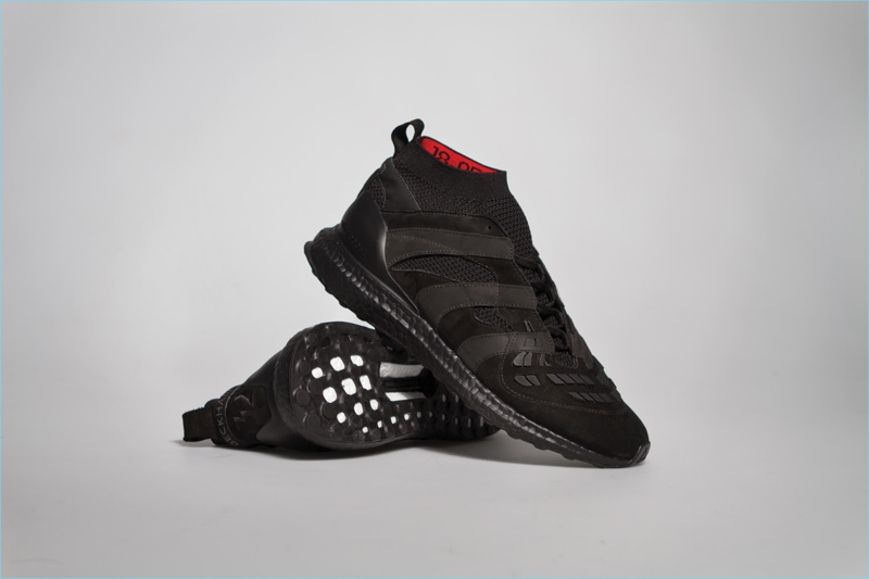 Black Adidas x David Beckham capsule collection sneakers