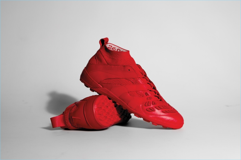 Red Adidas x David Beckham capsule collection sneakers