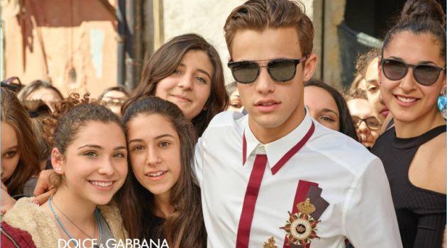 Cameron Dallas rocks sunglasses for Dolce & Gabbana's fall-winter 2017 campaign.