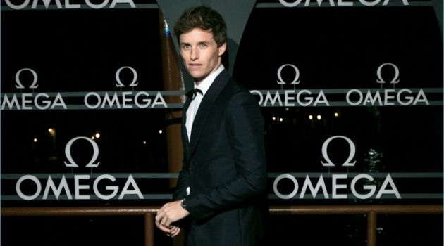 Eddie Redmayne wears a sharp tuxedo for a special evening out with OMEGA.