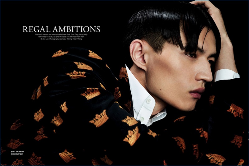Regal Ambitions: Evan Fang Covers Men's Folio Singapore in Dolce & Gabbana