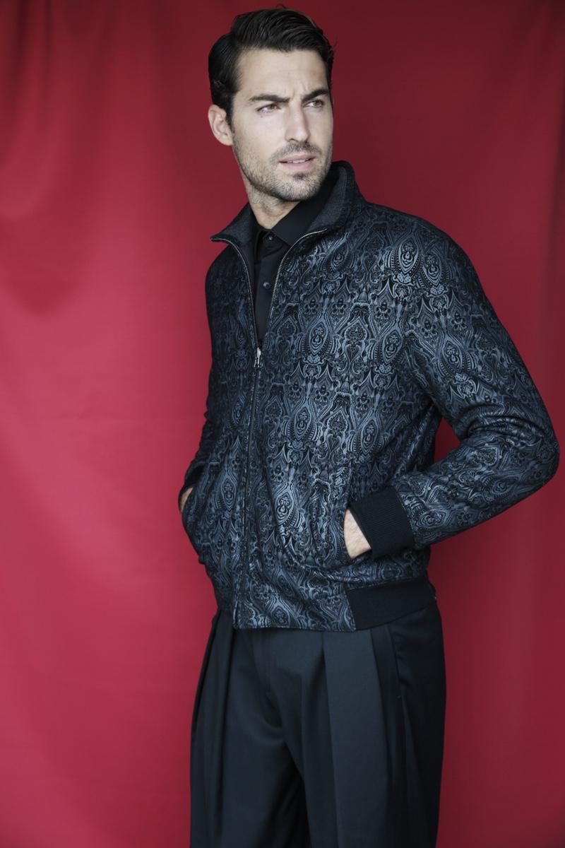 Antonio wears jacket Torras, shirt Antonio Miro, and trousers Emporio Armani.