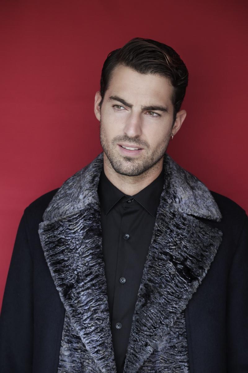 Antonio wears coat Emporio Armani and shirt Antonio Miro.