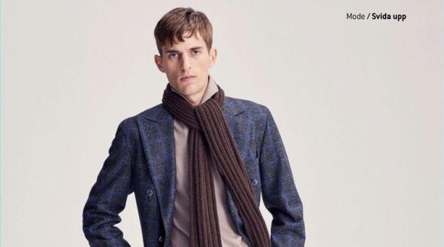 Gabriel Gronvik Dons Elegant Suits for King Magazine