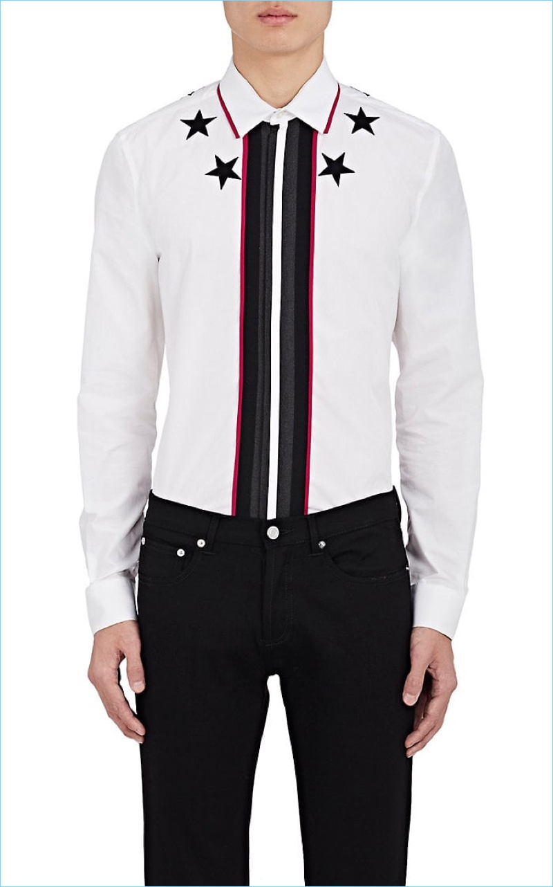 Givenchy Star Embroidered T-Shirt