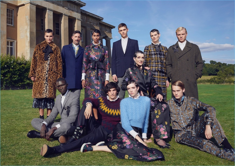 Michal Pudelka photographs his spin on the family portrait for the ERDEM x H&M campaign.