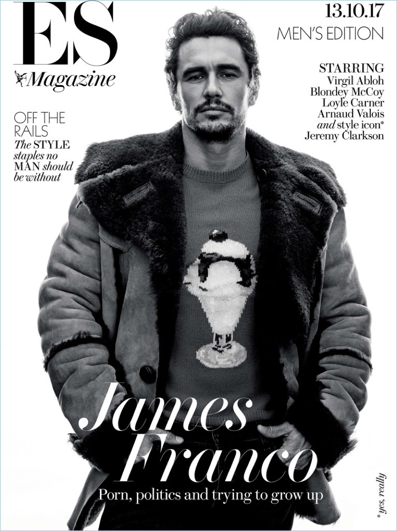 James Franco covers the most recent issue of ES magazine.