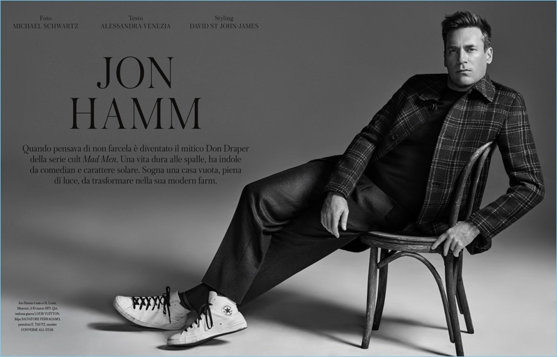 Michael Schwartz photographs Jon Hamm for Icon Panorama.