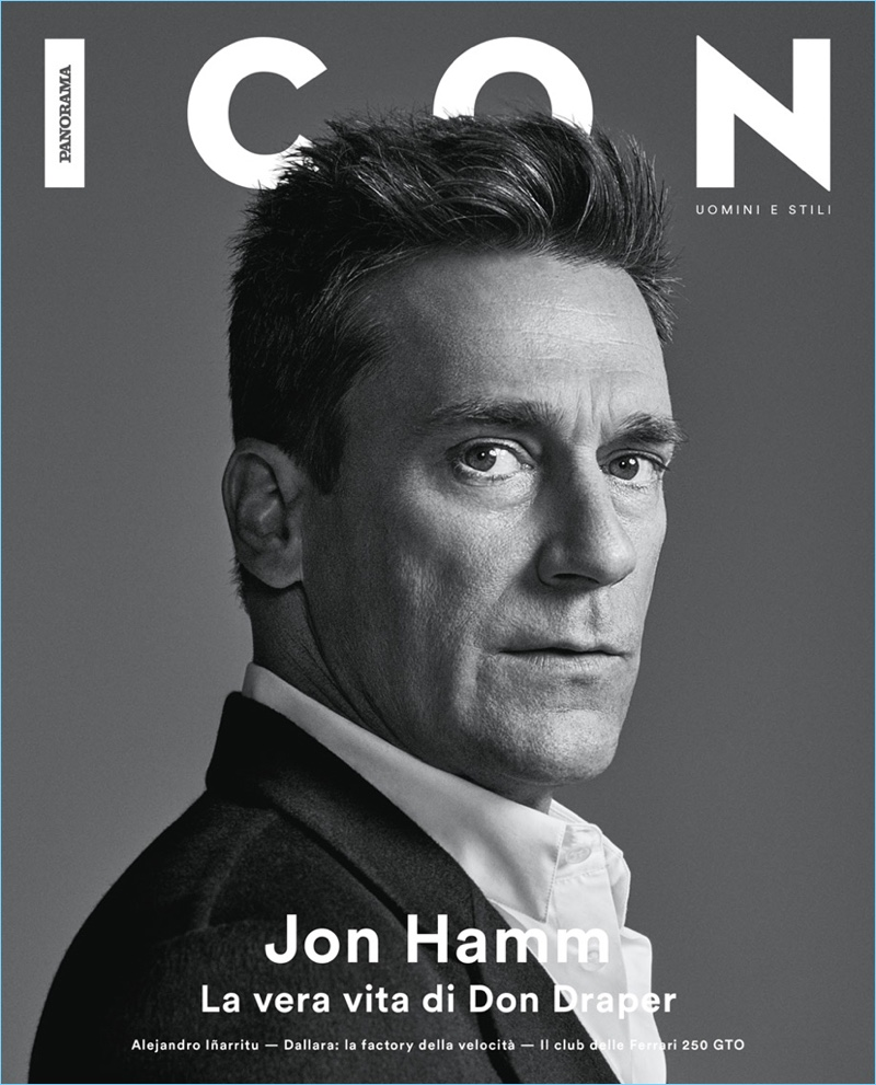 Jon Hamm covers the latest issue of Icon Panorama.