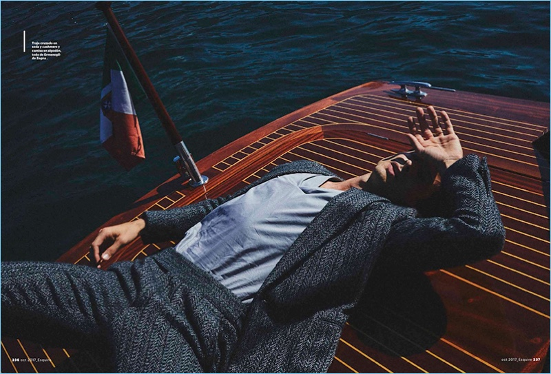 Jonas Mason Dons Zegna Fashions for Esquire Latin America