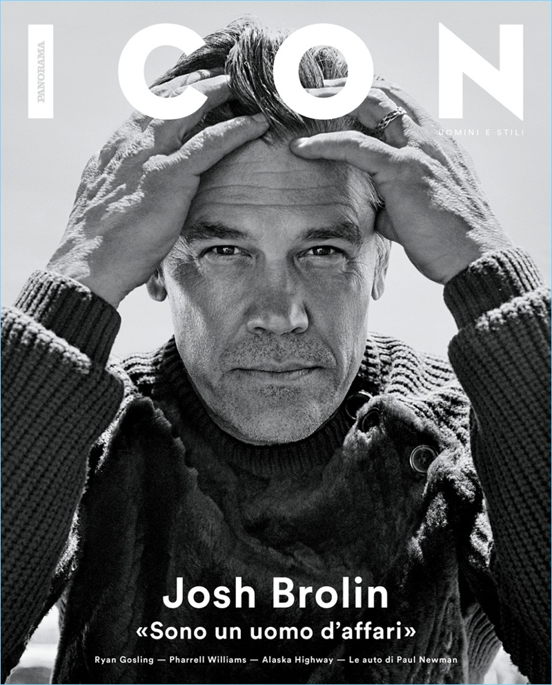 Josh Brolin covers the most recent issue of ICON Panorama.