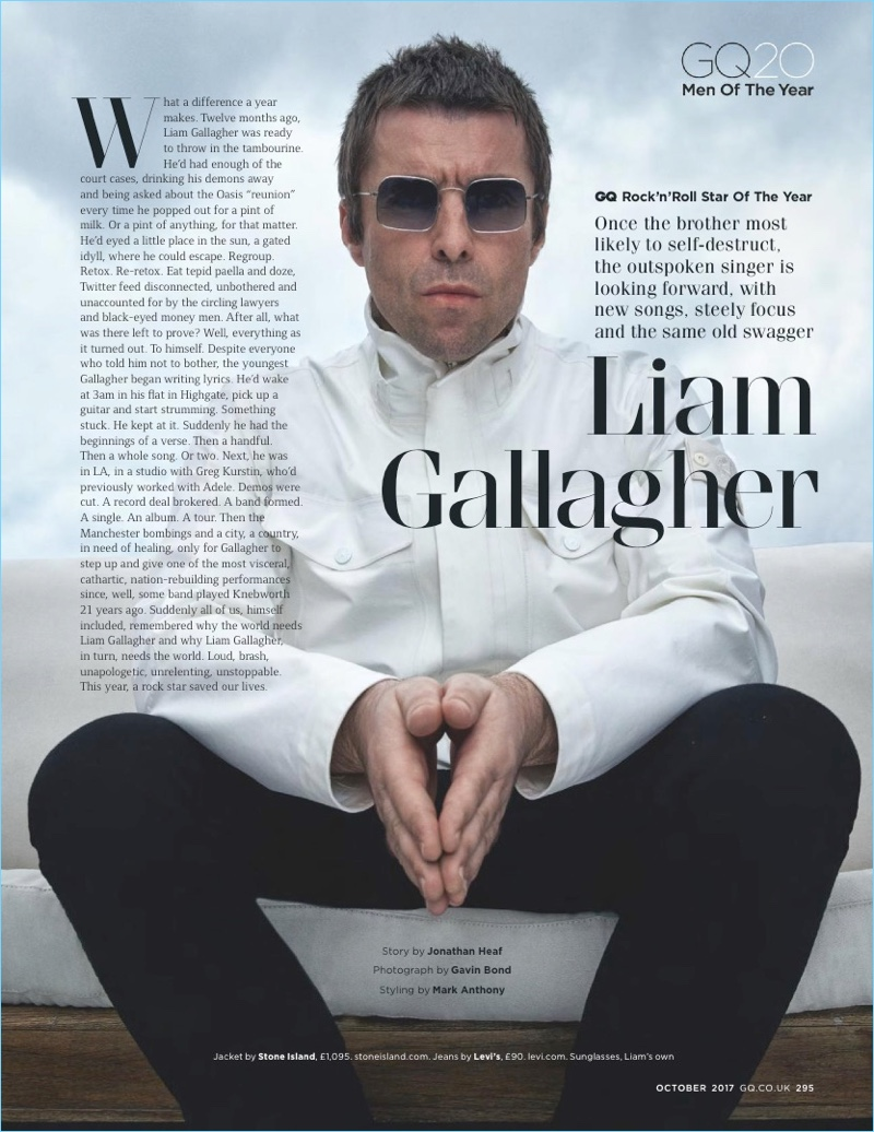 Liam Gallagher returns to the pages of British GQ for its Men of the Year issue.