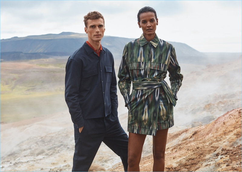 Models Clément Chabernaud and Liya Kebede come together for Mango's fall-winter 2017 Committed campaign.
