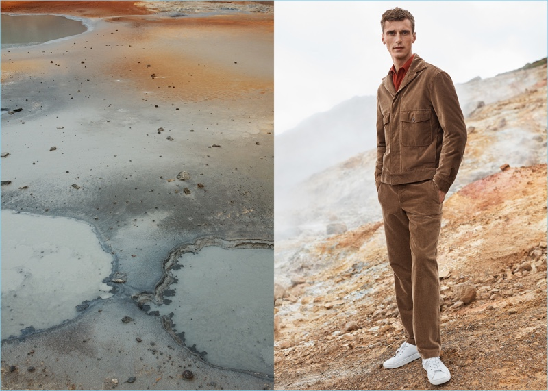 Mango Man enlists Clément Chabernaud as the star of its fall-winter 2017 Committed campaign.