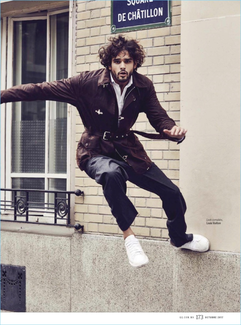 Marlon Teixeira Heads to Paris in Louis Vuitton for GQ México