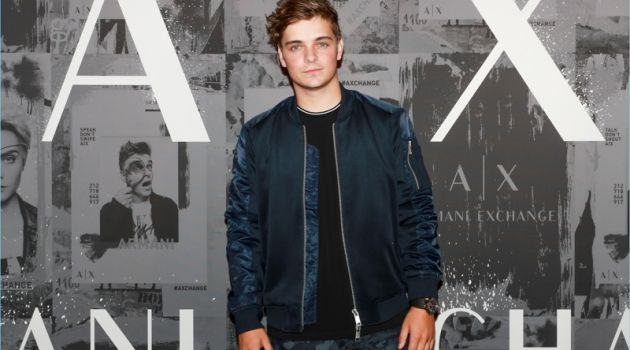 October 2017: Martin Garrix attends an Armani Exchange event in New York City.