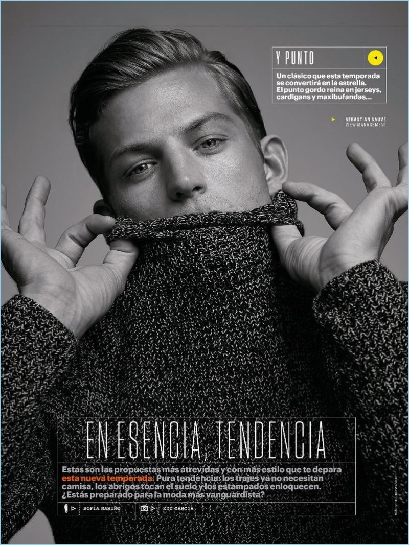 Sebastian Sauvé for Men's Health Spain