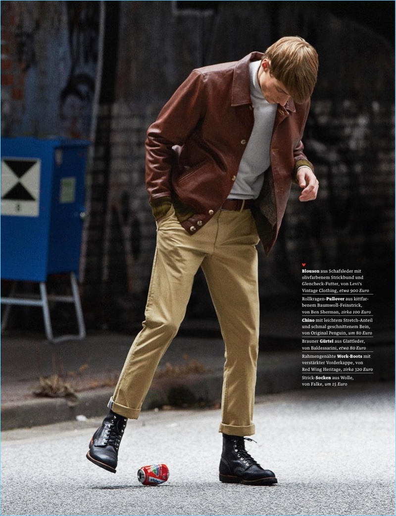 michael lange sports street style for mens health germany