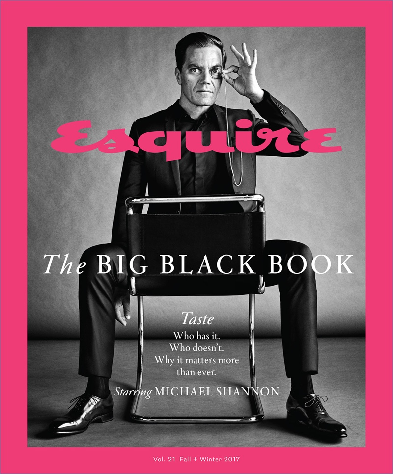 Michael Shannon covers The Big Black Book from Esquire.