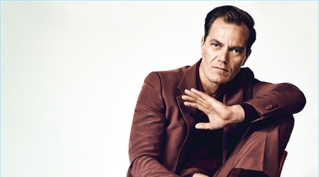 Michael Shannon Dons Monochromatic Suits for Esquire's The Big Black Book