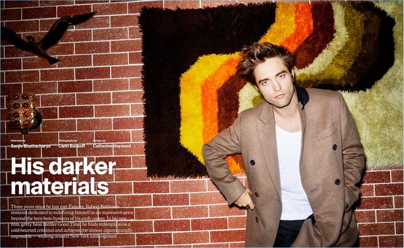 Actor Robert Pattinson  wears a fall-winter 2017 look by Berluti.