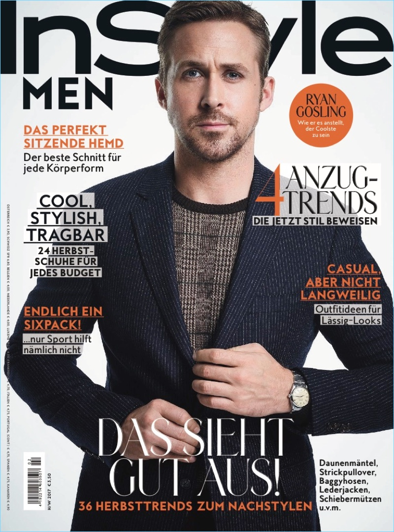 Ryan Gosling Covers InStyle Men Germany, Talks 'Blade Runner 2049' & Harrison Ford