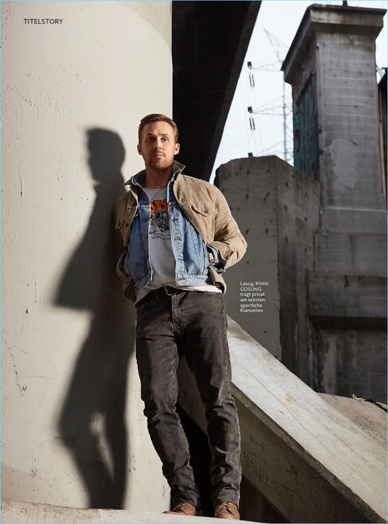 Canadian actor Ryan Gosling stars in a photo shoot for InStyle Men Germany.