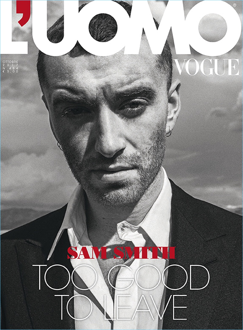 Sam Smith covers the October 2017 issue of L'Uomo Vogue.