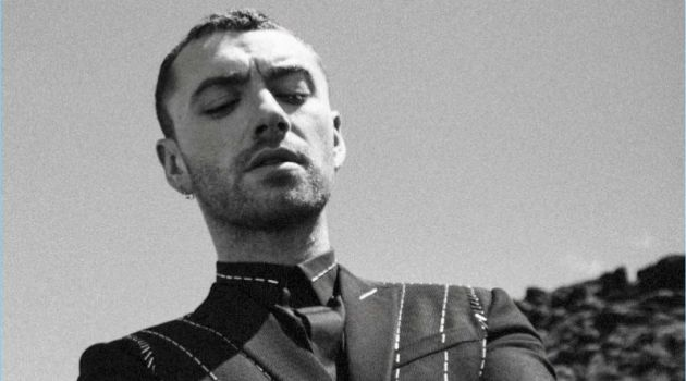 Singer Sam Smith wears Dior Homme for L'Uomo Vogue.