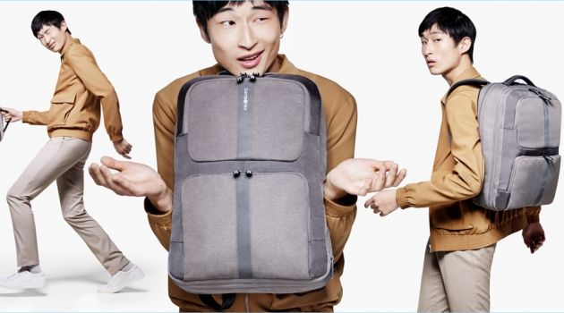 Sang Woo Kim stars in a campaign for Samsonite's business range.