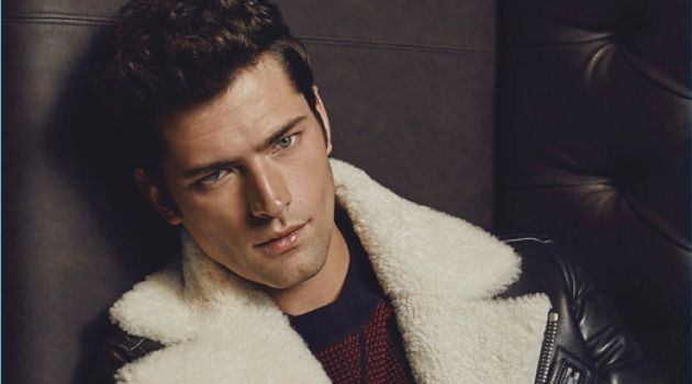 Sean O'Pry Sports Leather + More for Glass Cover Shoot