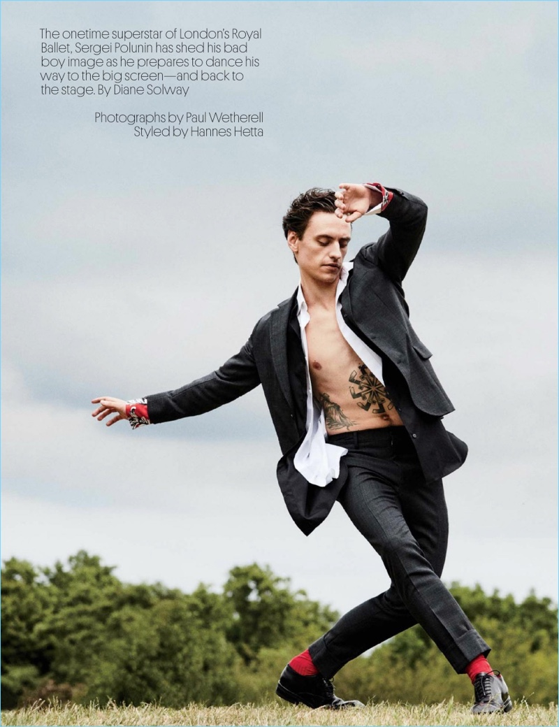 ec612dc334 Rebel with a Cause  Sergei Polunin Poses for W Magazine