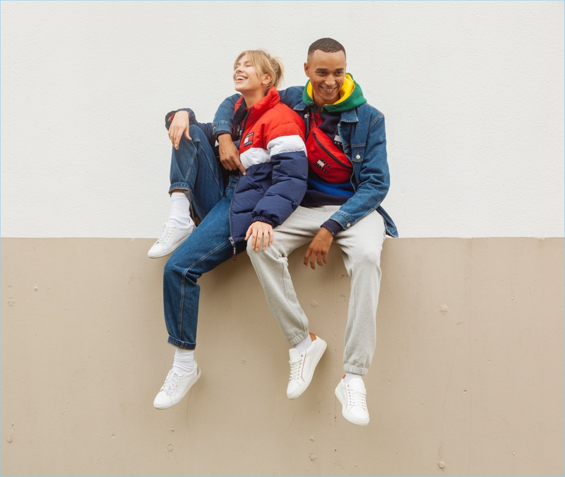 Zsá Zsá Inci Bürkle and Aaron Max come together in new styles from Tommy Jeans.