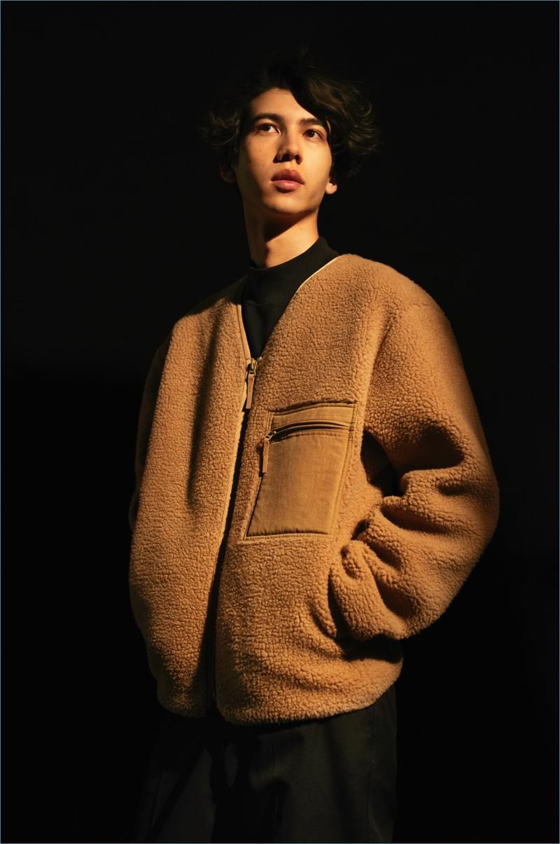 Think Fleece: Get comfortable in UNIQLO U's fleece cardigan $39.90.