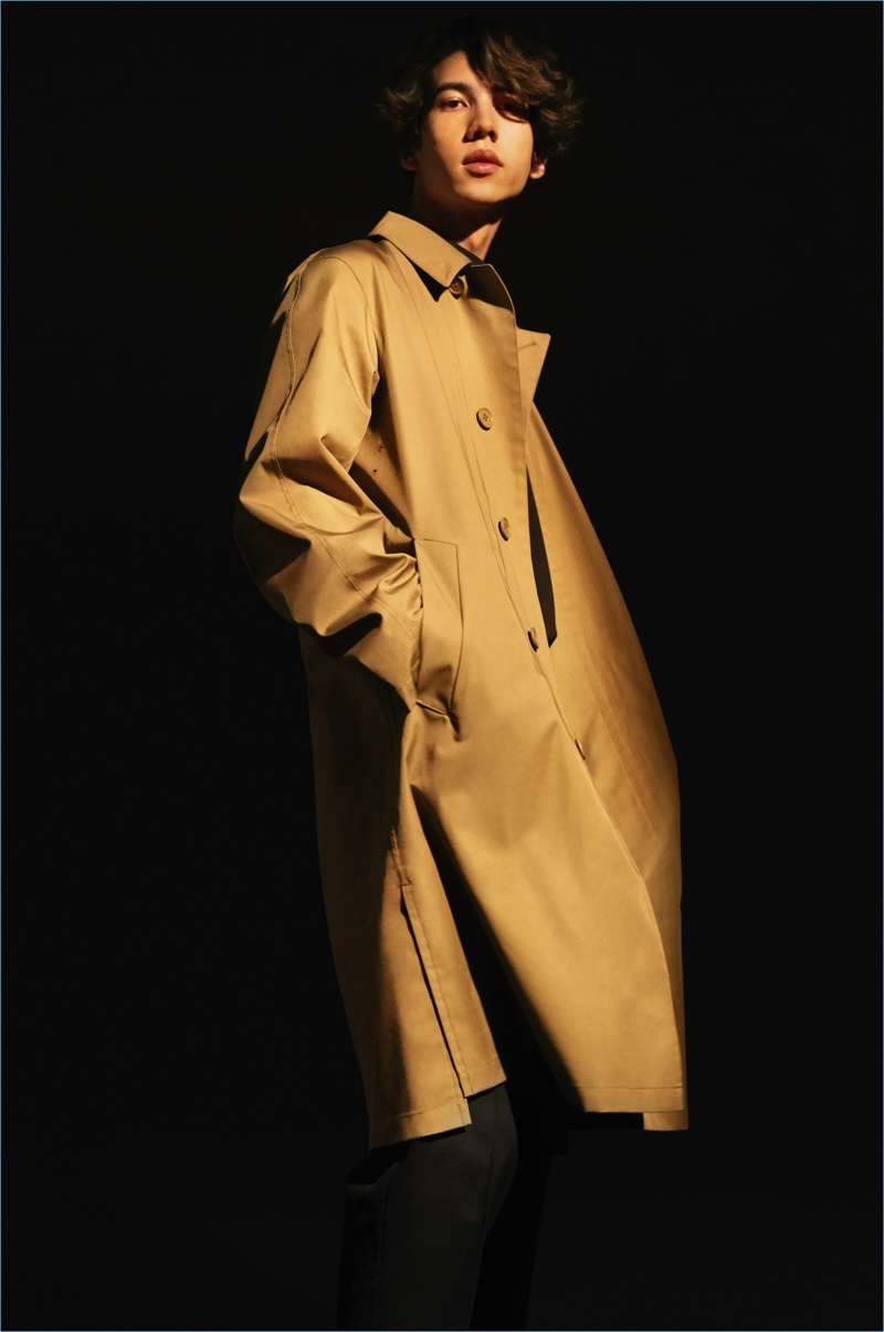Against All Odds: Combat wind and rain with UNIQLO U's Blocktech coat $99.90 in brown.