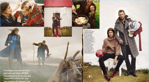 At the Edge of the World: Will Chalker & Family for Esquire Big Black Book