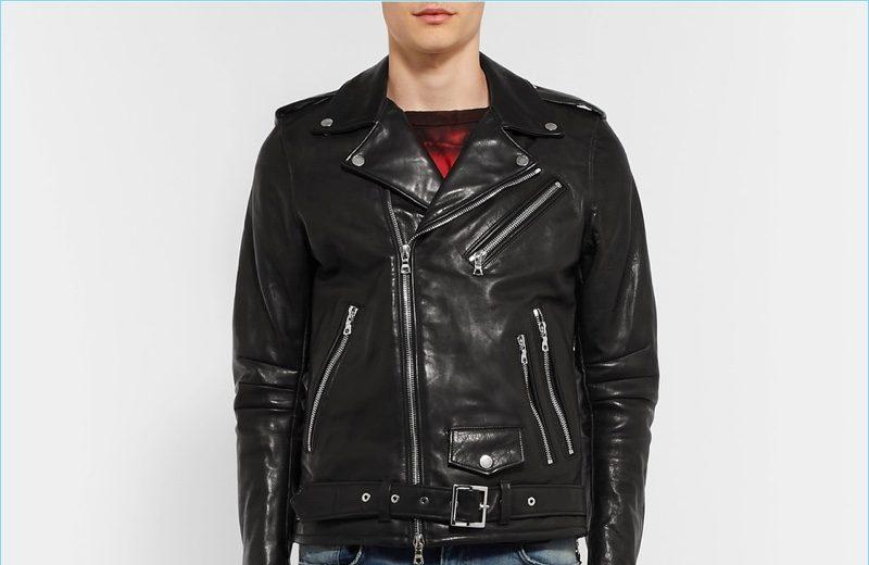 AMIRI Rider Slim-Fit Tasseled Leather Biker Jacket