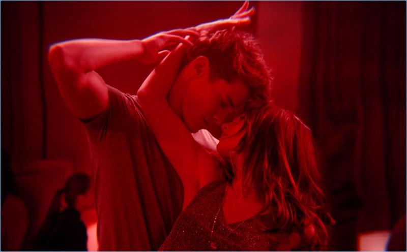 Models Jordy Baan and Ellen Burton for Cacharel's Amor Amor fragrance.