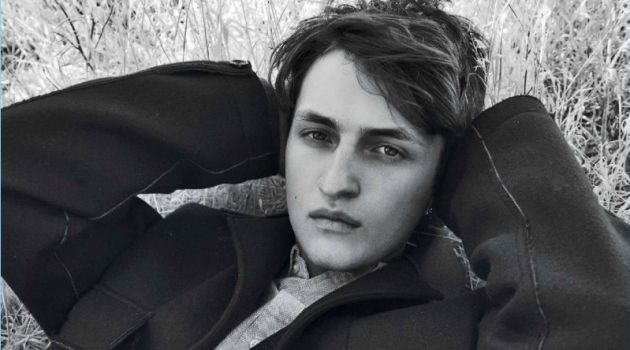 Anwar Hadid Dons Hilfiger Edition for L'Officiel Hommes Italia Cover Shoot