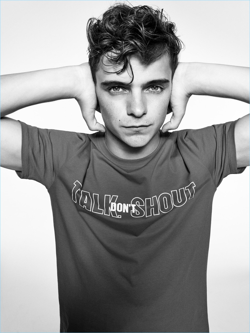 Reuniting with Armani Exchange, Martin Garrix fronts the brand's statement t-shirt campaign.