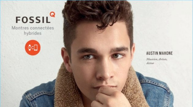 Austin Mahone 2017 Fossil Advertising Campaign Denim Jacket