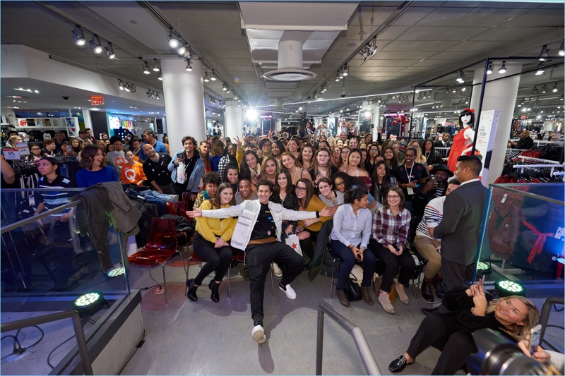 Fans come out to support Austin Mahone and Fossil at Macy's Herald Square.