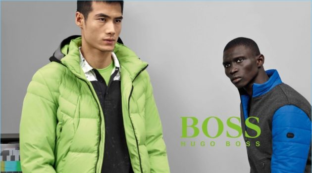 Hao Yun Xiang and Fernando Cabral stars in BOSS Green's fall-winter 2017 campaign.