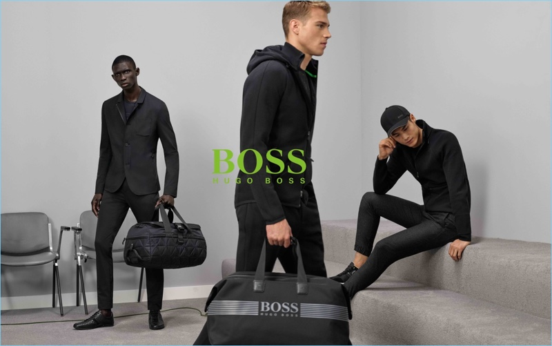 BOSS Green enlists Fernando Cabral, Edward Wilding, and Hao Yun Xiang for its fall-winter 2017 campaign.