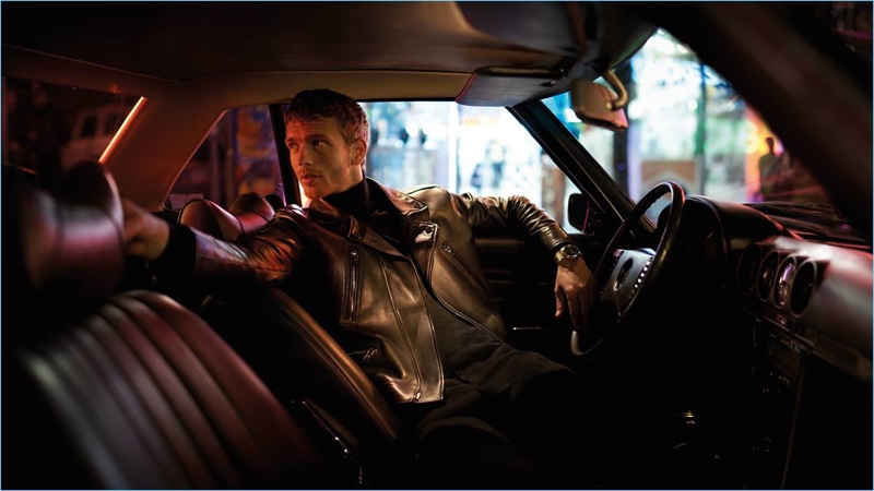 Benjamin Eidem gets behind the wheel for BOSS' holiday 2017 campaign.