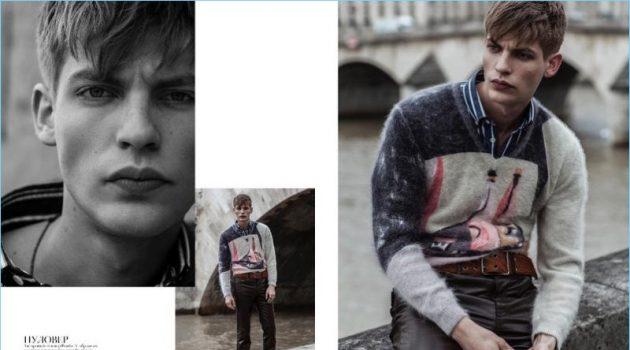 Baptiste Radufe Sports Balenciaga + More for Vogue Man Ukraine