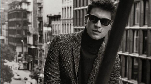 Miles Garber fronts Billy Reid's fall-winter 2017 eyewear campaign.
